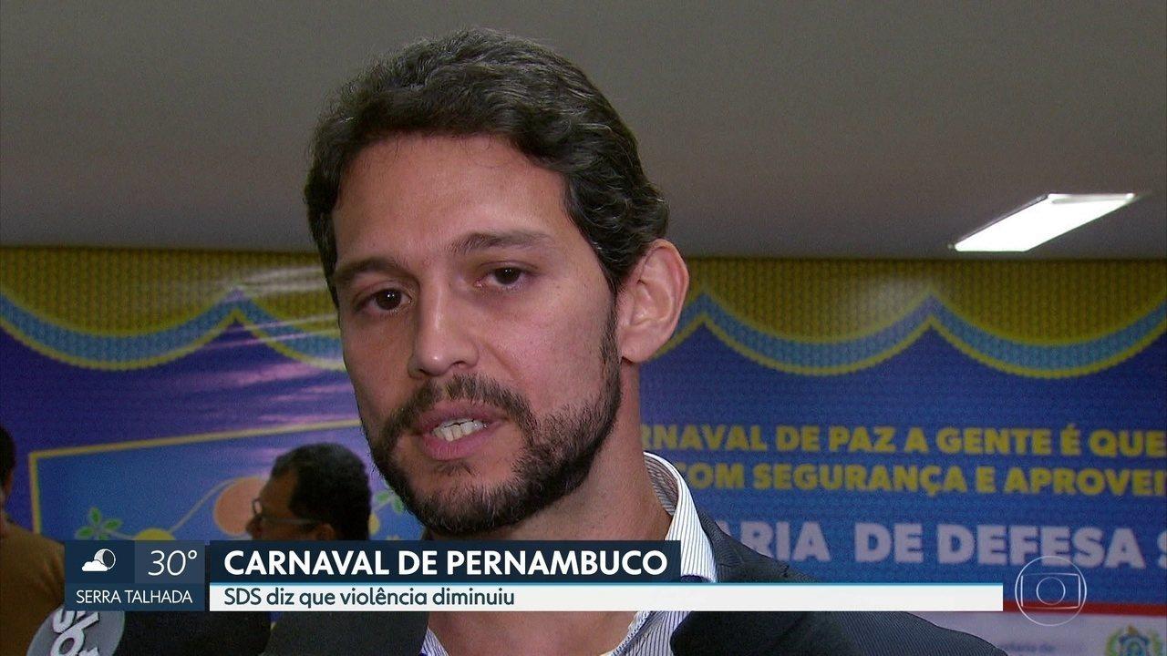 Secretaria de Defesa Social registra diminuição da criminalidade no carnaval 2018 de Pernambuco