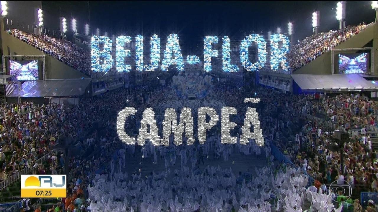 Beija-flor é a campeã do Carnaval 2018