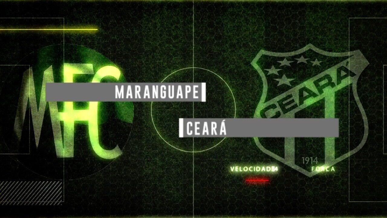 Chamada para a transmissão de Maranguape x Ceará pelo Campeonato Cearense