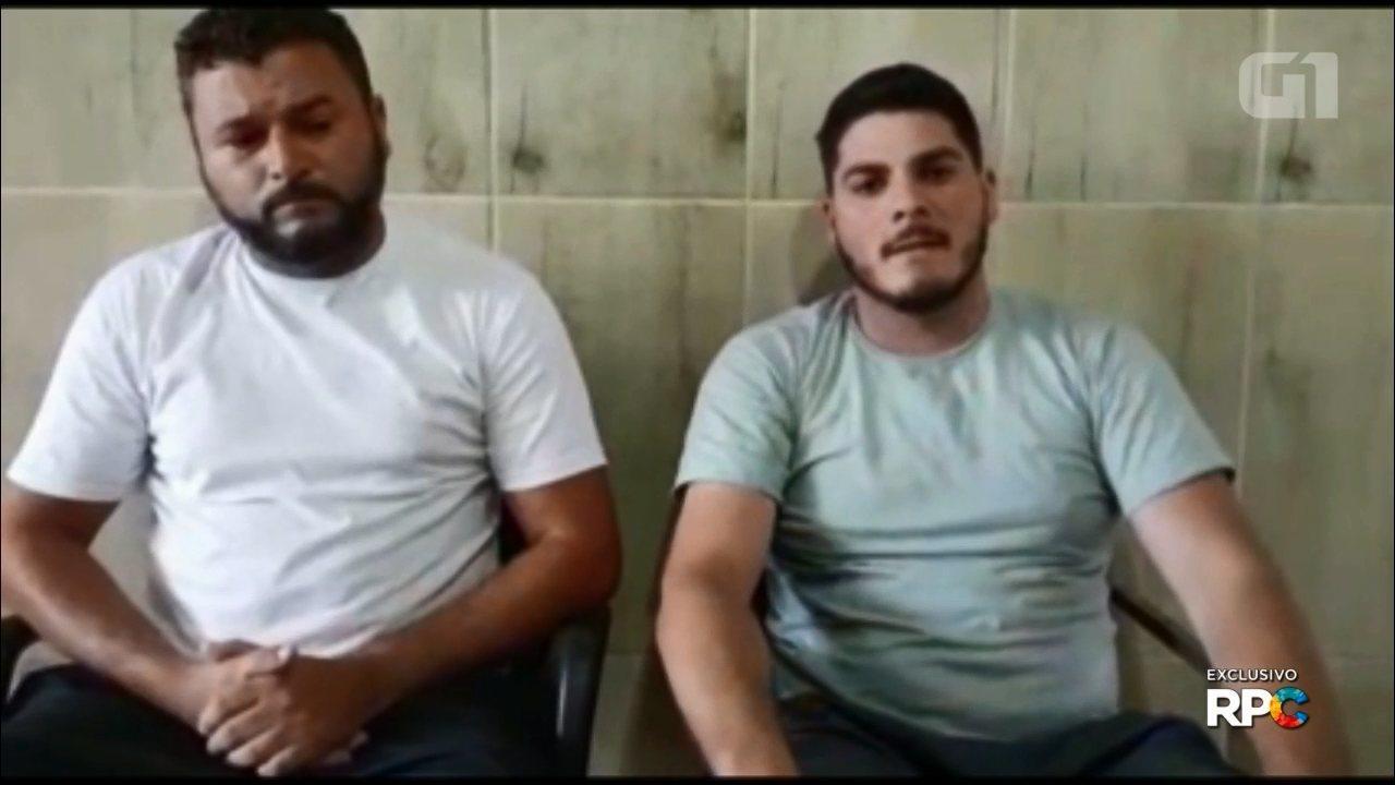 Suspeitos da morte de youtuber no Paraná falam como ocorreu o crime; assista ao vídeo