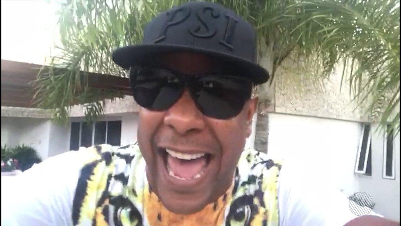 Cantor Márcio Victor faz vídeo e agradece pelos votos na enquente do Bahia folia