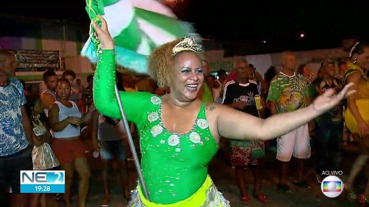 Clube das Pás e Escola Gigante do Samba vencem Concurso de Agremiações do Recife