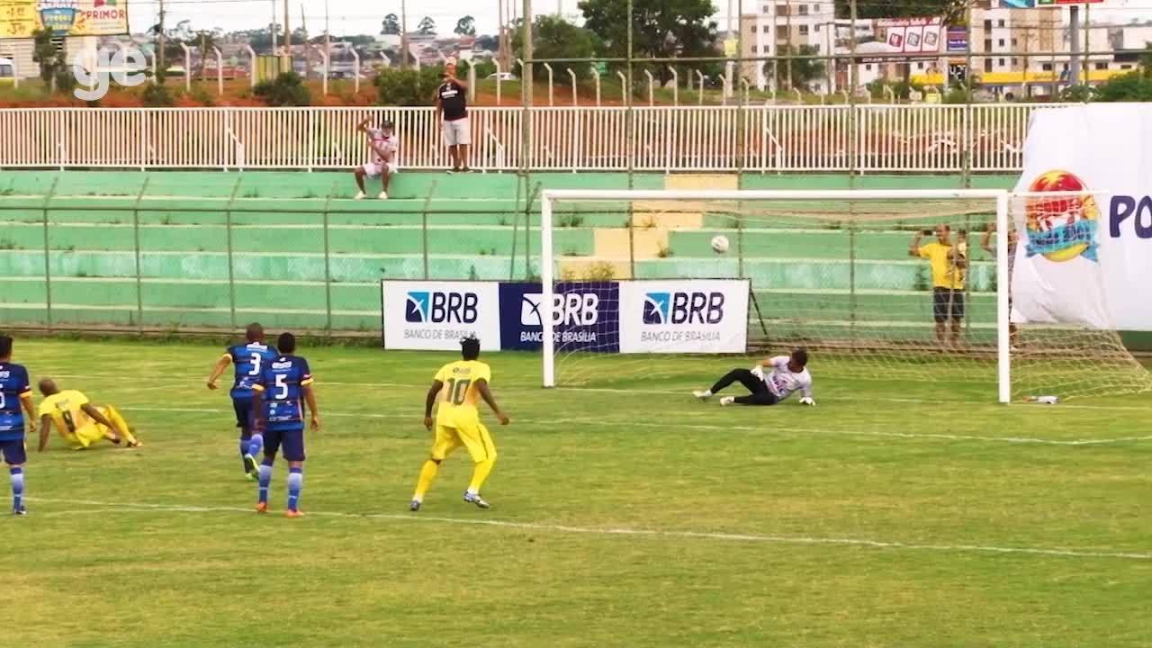 O gol de Samambaia 1 x 0 Paranoá pelo Campeonato Brasiliense 2018