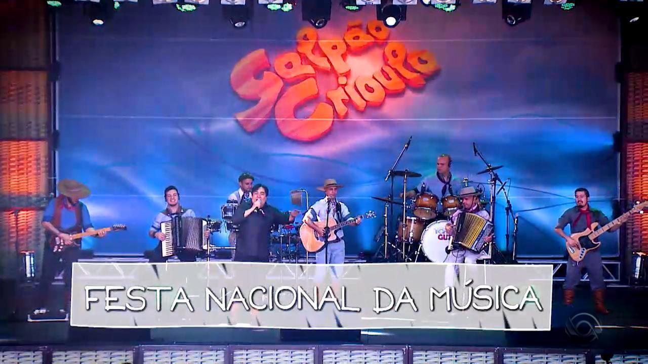 'Galpão Crioulo' reapresenta programa na Festa Nacional da Música neste domingo (18)