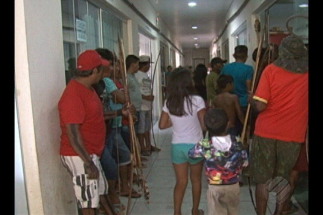Indígenas da regiçao do Xingu protestam em Altamira