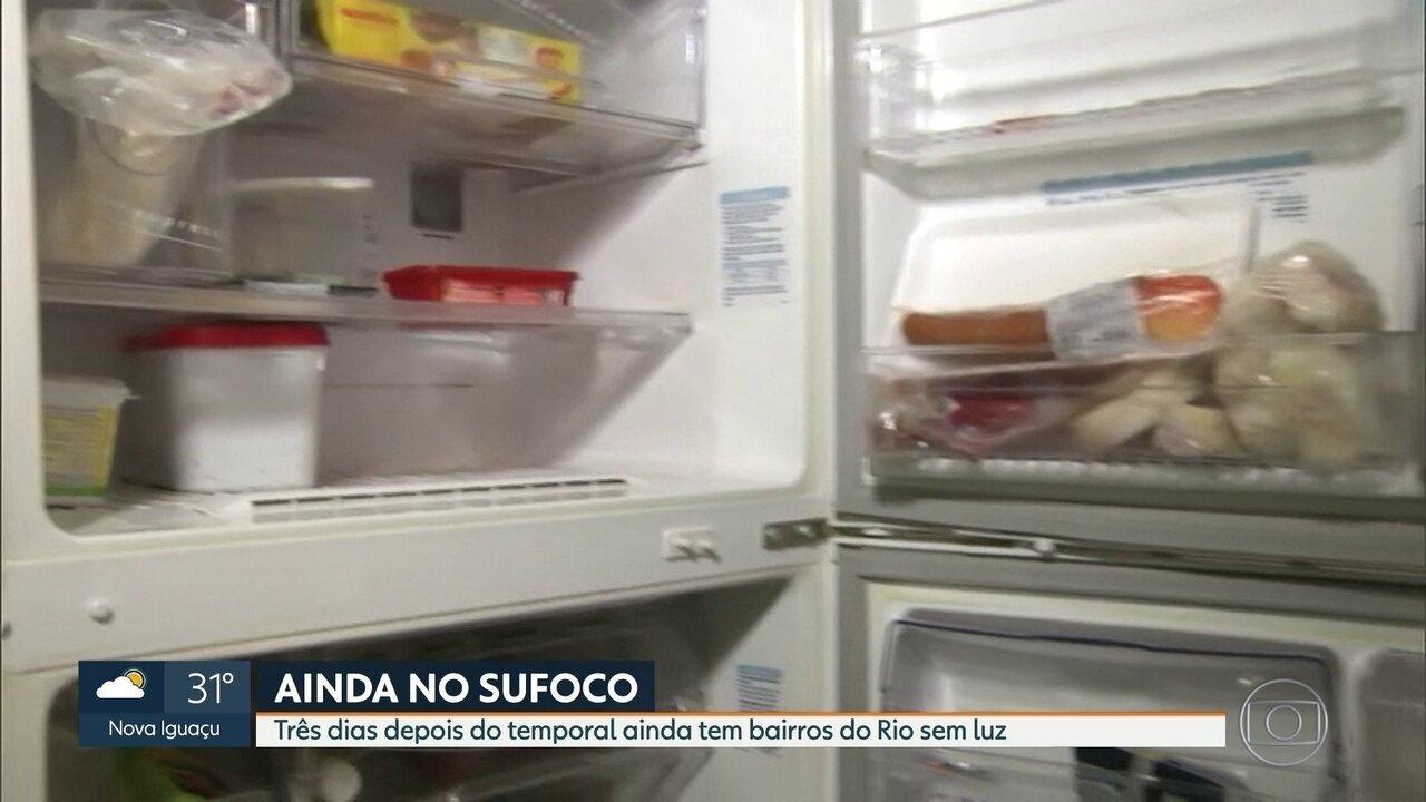 Moradores de bairros dos Rio estão há três dias sem luz