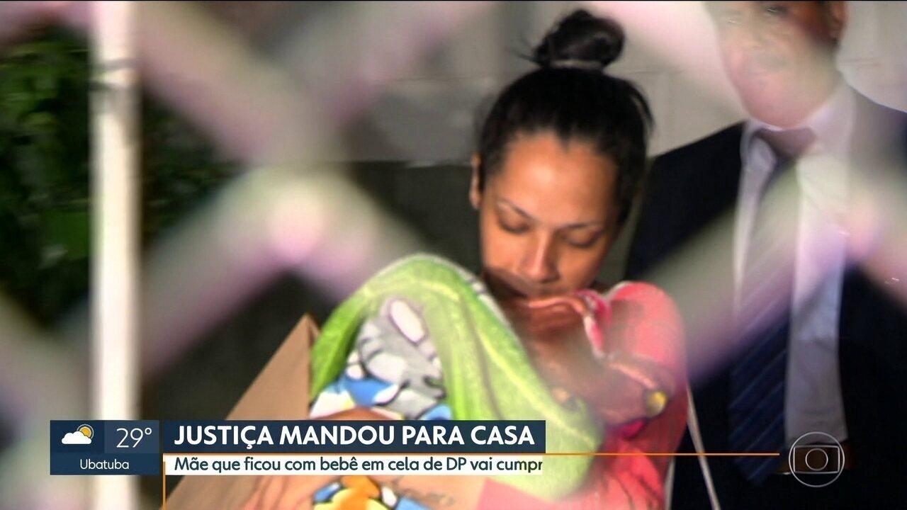 Mãe presa com filho recém-nascido vai cumprir prisão domiciliar