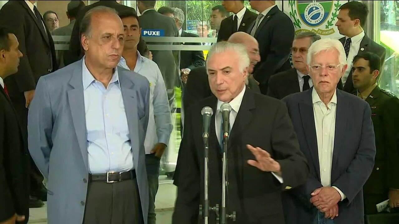 Temer anuncia criação do Ministério da Segurança Pública em reunião no RJ