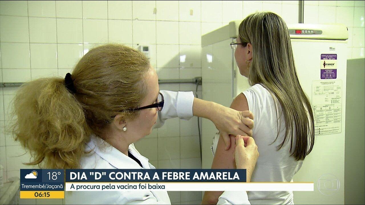 Dia 'D' contra a febre amarela teve pouca procura na região metropolitana de SP