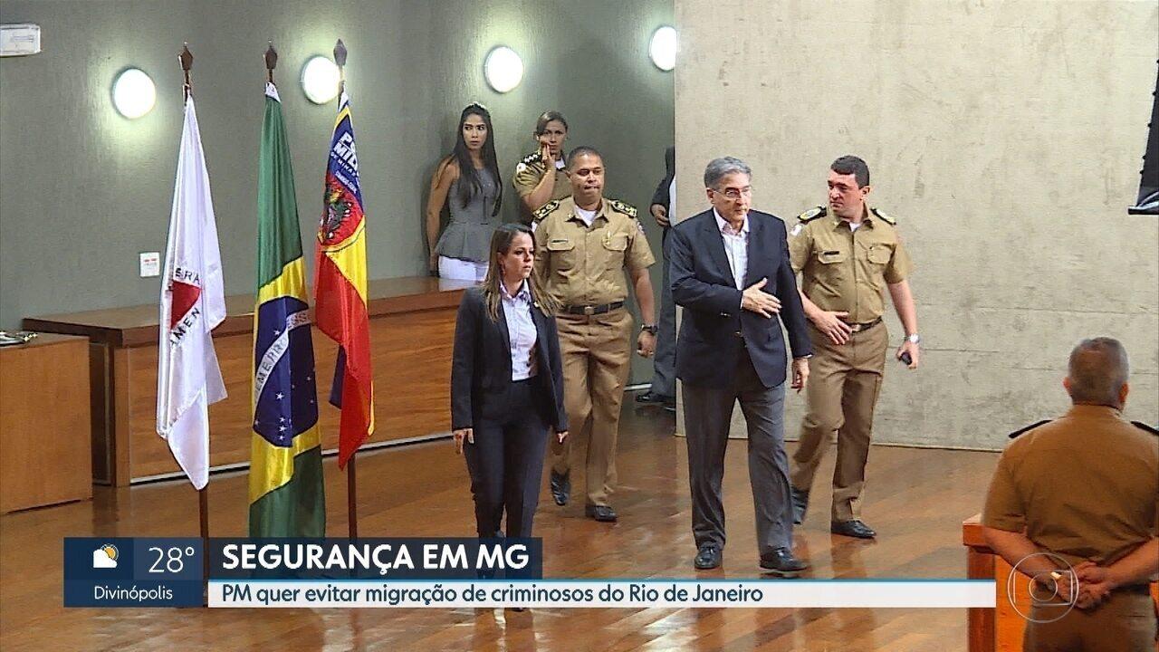 PM de Minas monitora possível migração de criminosos do Rio