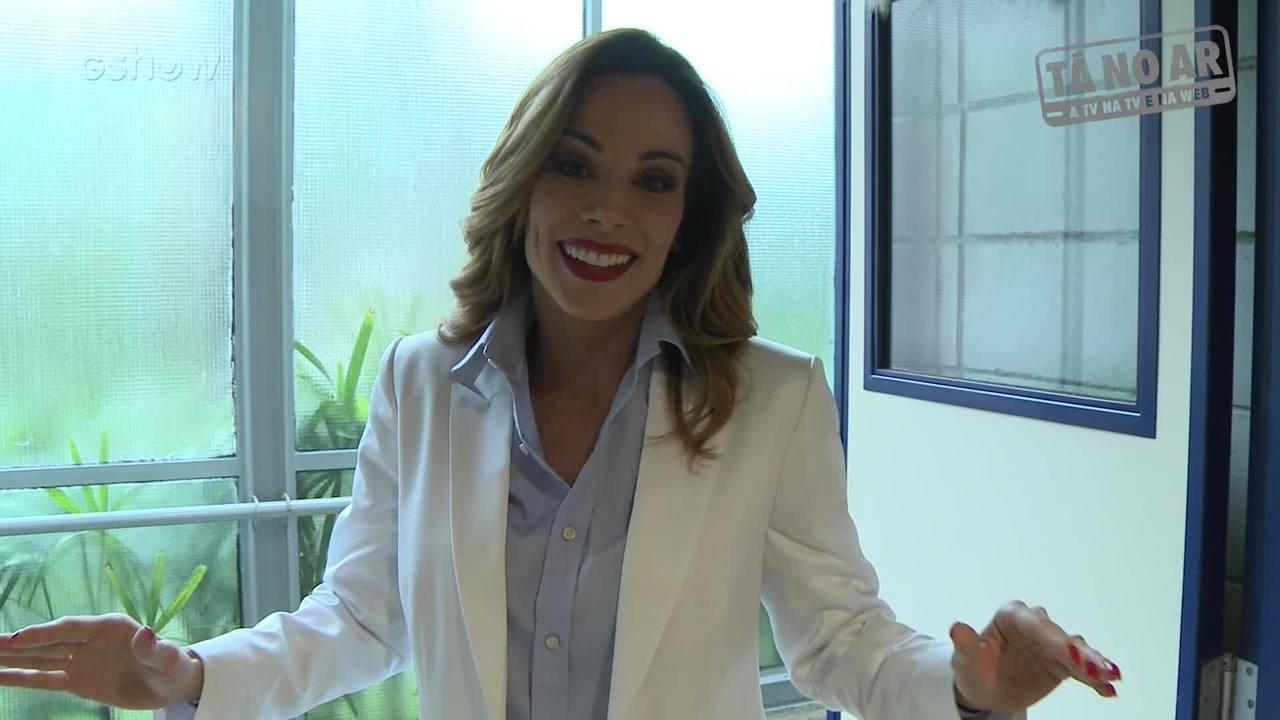 Ana Furtado nos bastidores de Tá no Ar