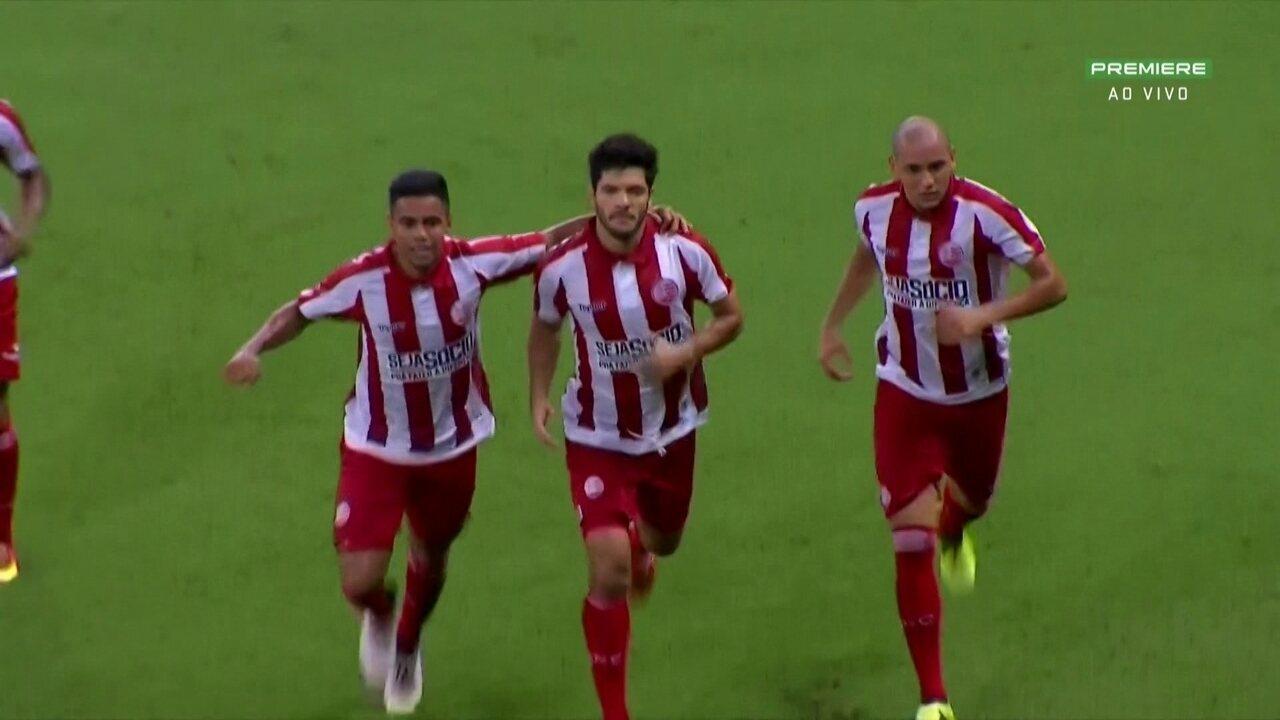 Ortigoza abriu sua contagem de gols com um pênalti