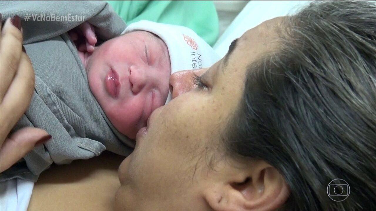 Equipe do Bem Estar acompanha o parto de Fernanda