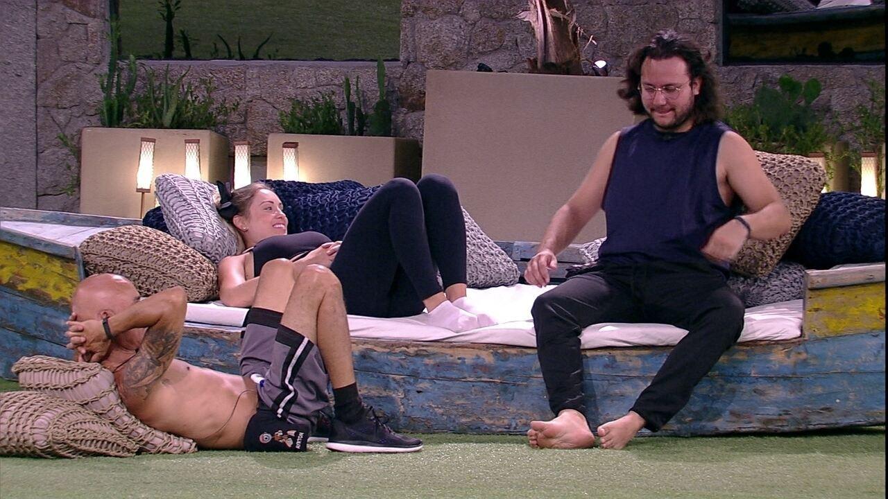 Ayrton, Jéssica e Diego conversam sobre Paredão