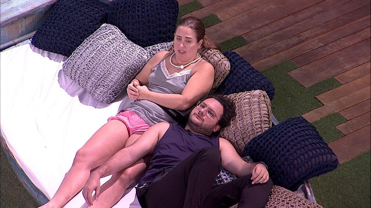 Patrícia fala para Diego: 'Deus me livre você sair'