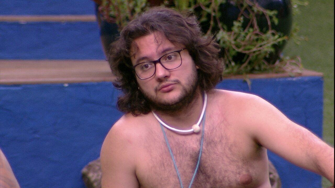 Diego imagina Paredão: 'Se fecha eu, Caruso e Lucas ia ser show'