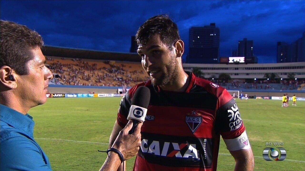 William Alves lamenta empate sofrido pelo Atlético-GO no fim