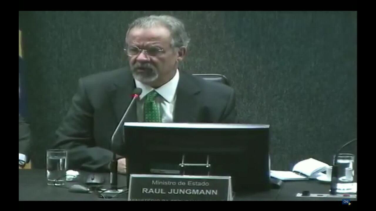 Jungmann participa de sessão do CNJ com Cármen Lúcia