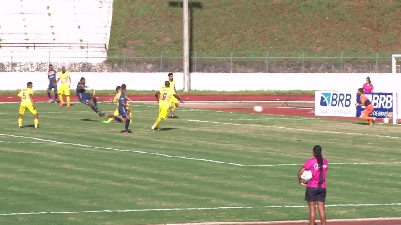 O gol de Real 1 x 0 Samambaia pelo Campeonato Brasiliense 2018