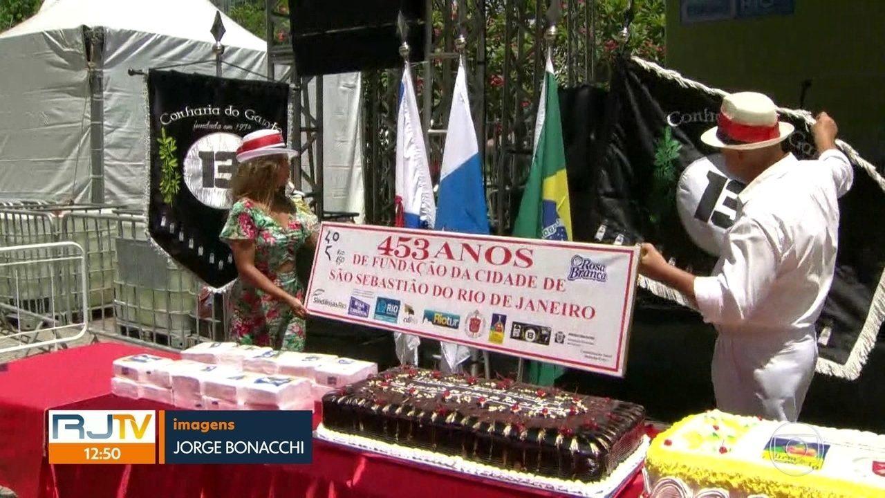 O Rio de Janeiro completa hoje 453 anos