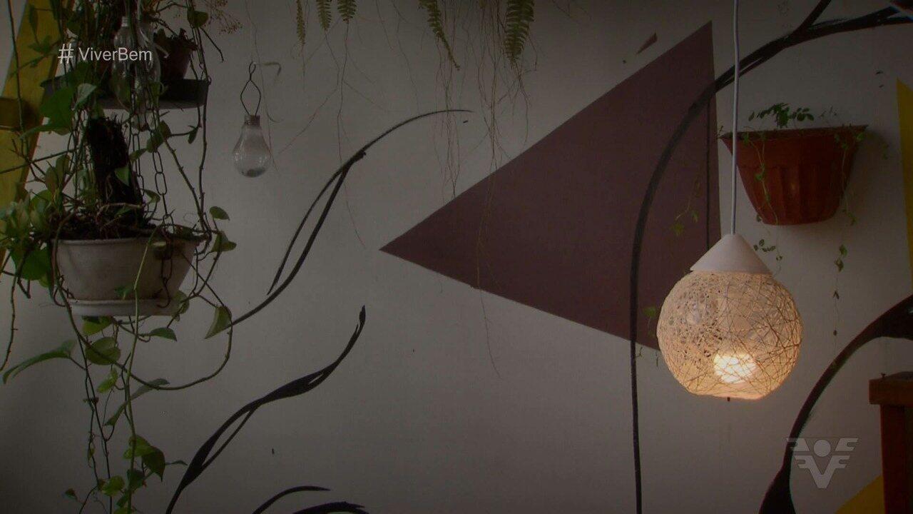 Aprenda a fazer uma linda luminária para sua casa!
