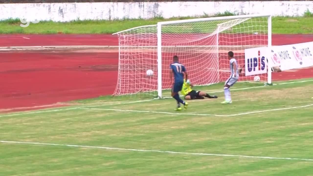 Os gols de Paranoá 0 x 2 Real pelo Campeonato Brasiliense 2018