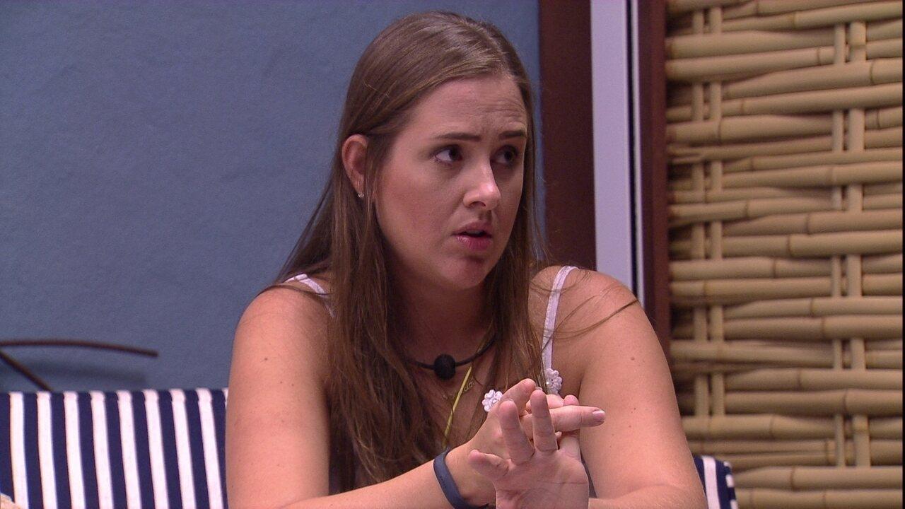Patrícia diz a Diego que precisa descobrir voto de Jéssica