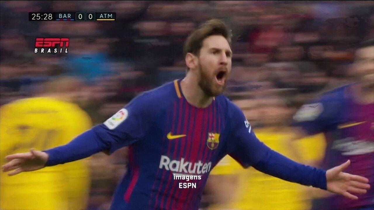 Gol 600 de Messi é destaque no fim de semana de bola na rede pela Europa