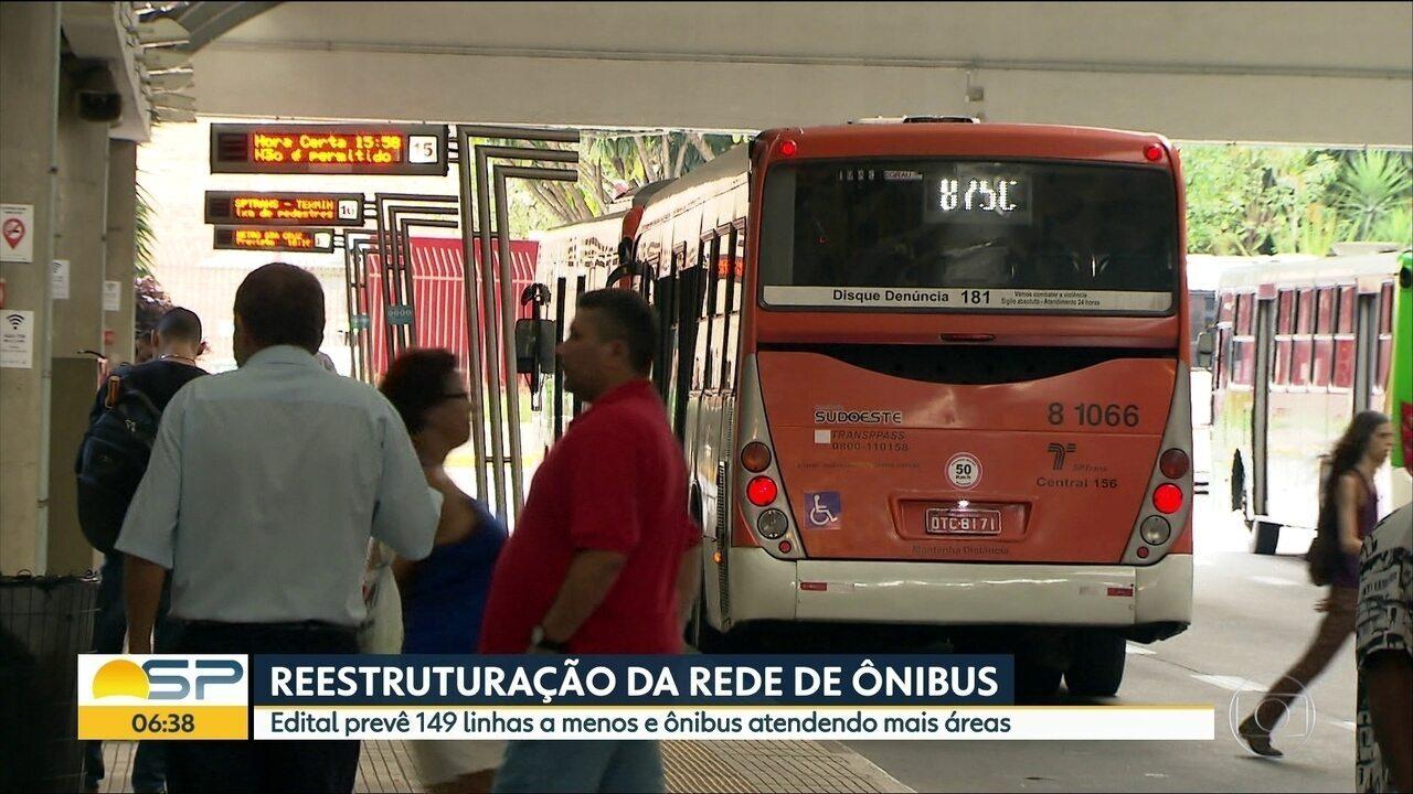 Reestruturação prevê 149 linhas de ônibus a menos em SP