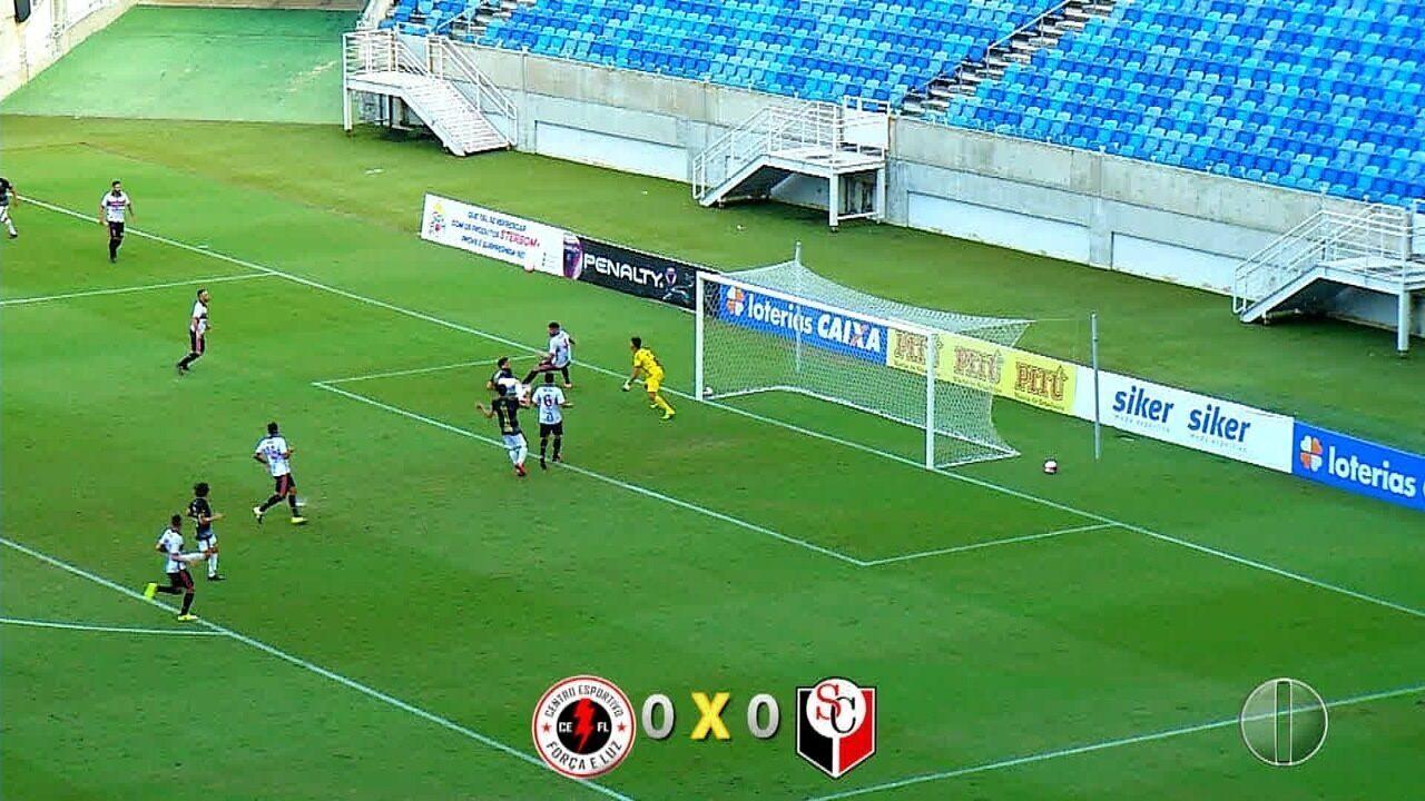 Força e Luz e Santa Cruz de Natal empatam em 0 a 0, na Arena das Dunas