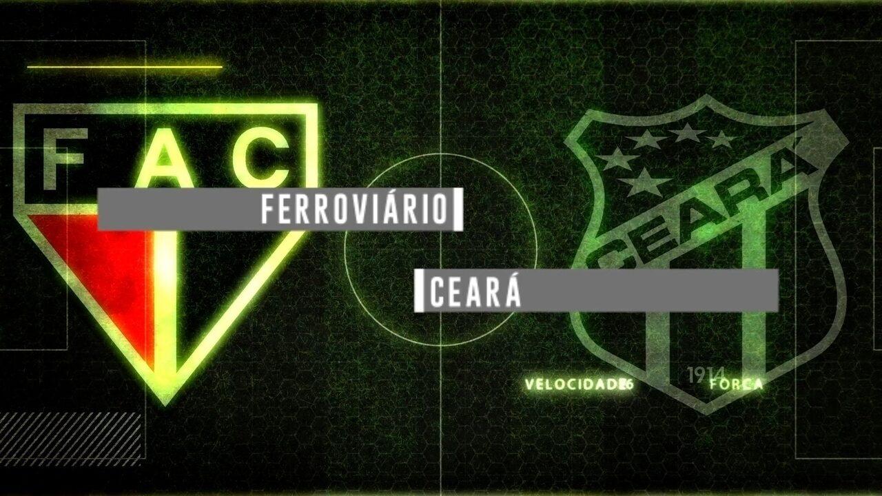 Chamada para a transmissão de Ferroviário x Ceará pelo Campeonato Cearense