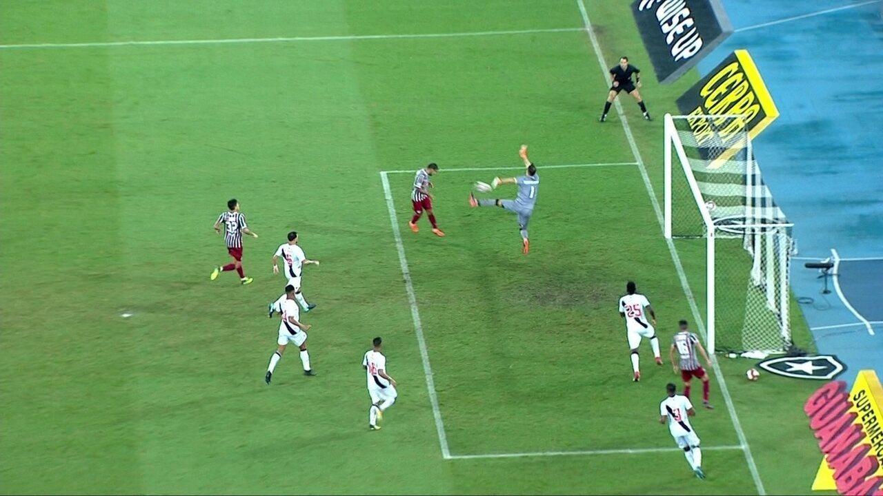 Sornoza e Rildo perdem chances incríveis em Vasco x Fluminense