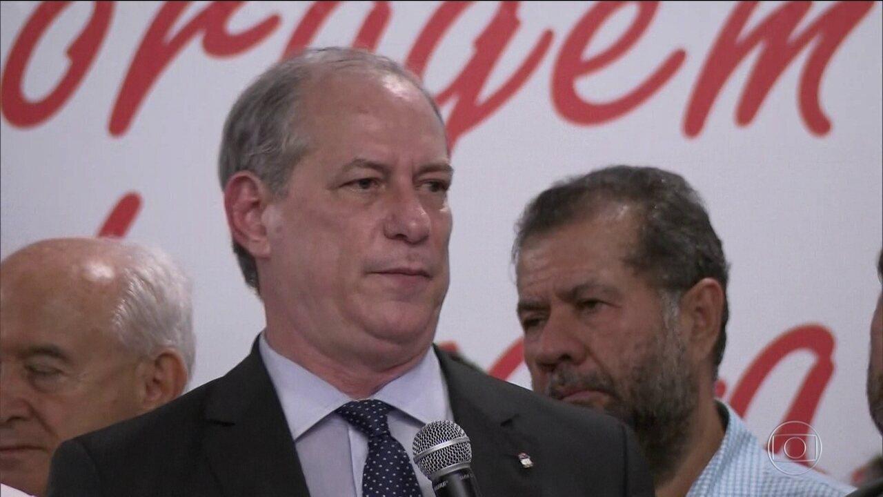 PDT lança pré-candidatura do ex-governador Ciro Gomes à Presidência