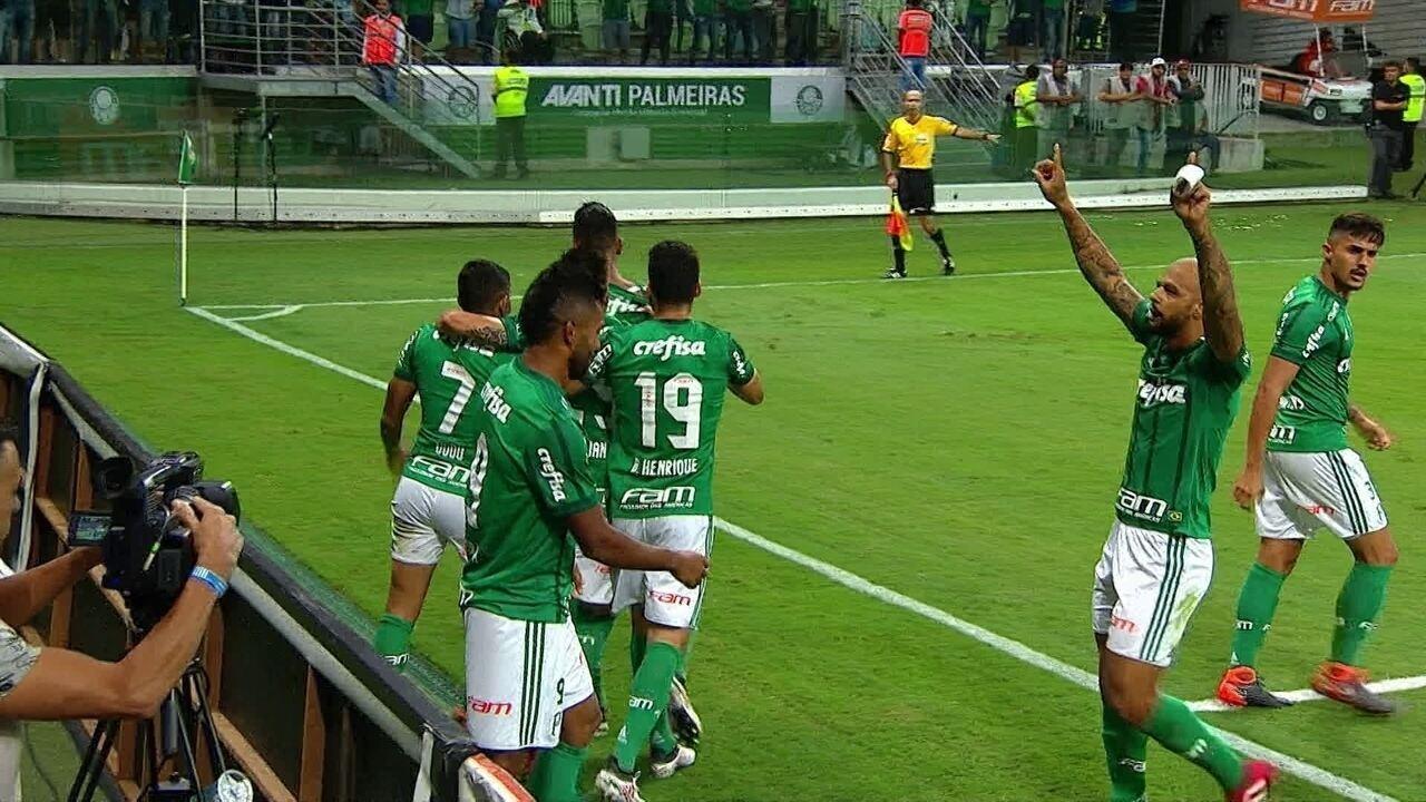 Os gols de Palmeiras 2 x 0 São Paulo pela 11ª rodada do Campeonato Paulista 2018