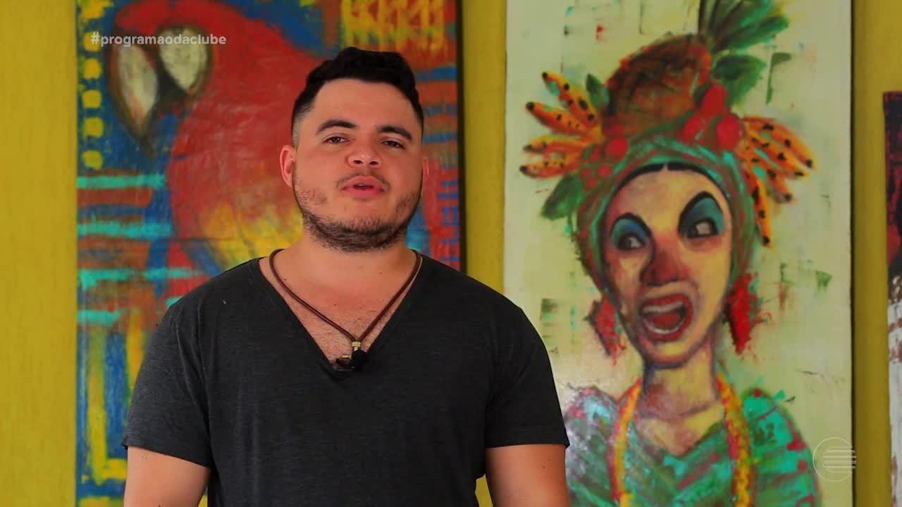 Artista plástico Rafael Albuquerque 'Jabuh' manda ver nas belas pinturas
