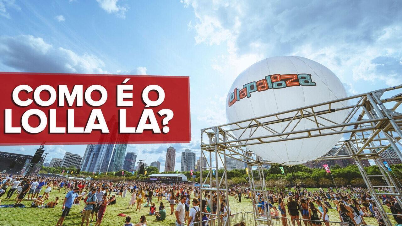 G1 mostra como é o Lollapalooza Chicago