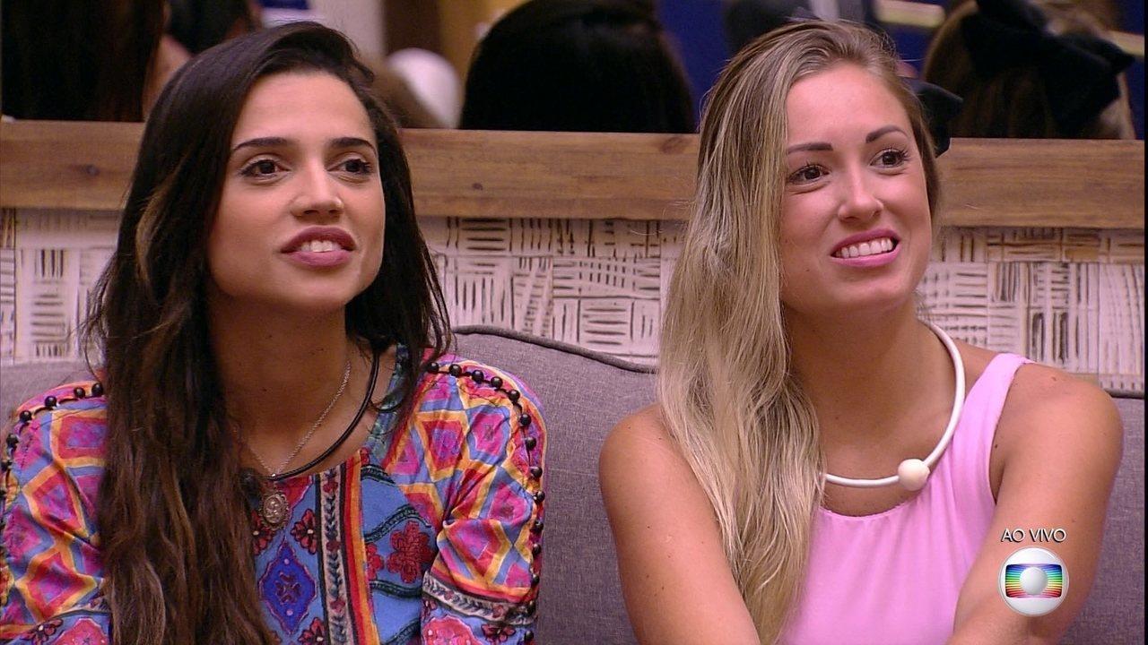 Paula e Jéssica são as novas Líderes do BBB18