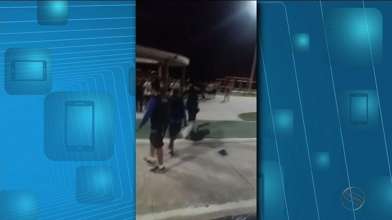 Vídeos mostram brigas e ação de Guarda Municipal