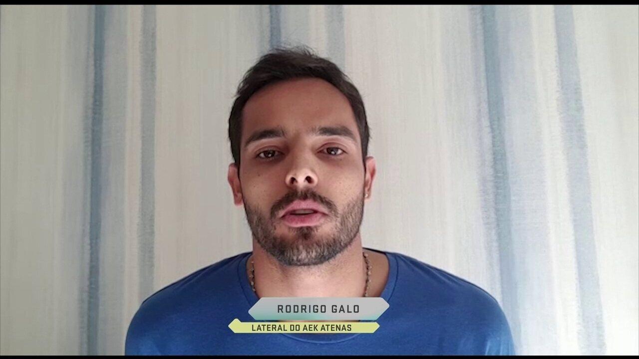 Rodrigo Galo, do AEK, relata invasão armada na Grécia: