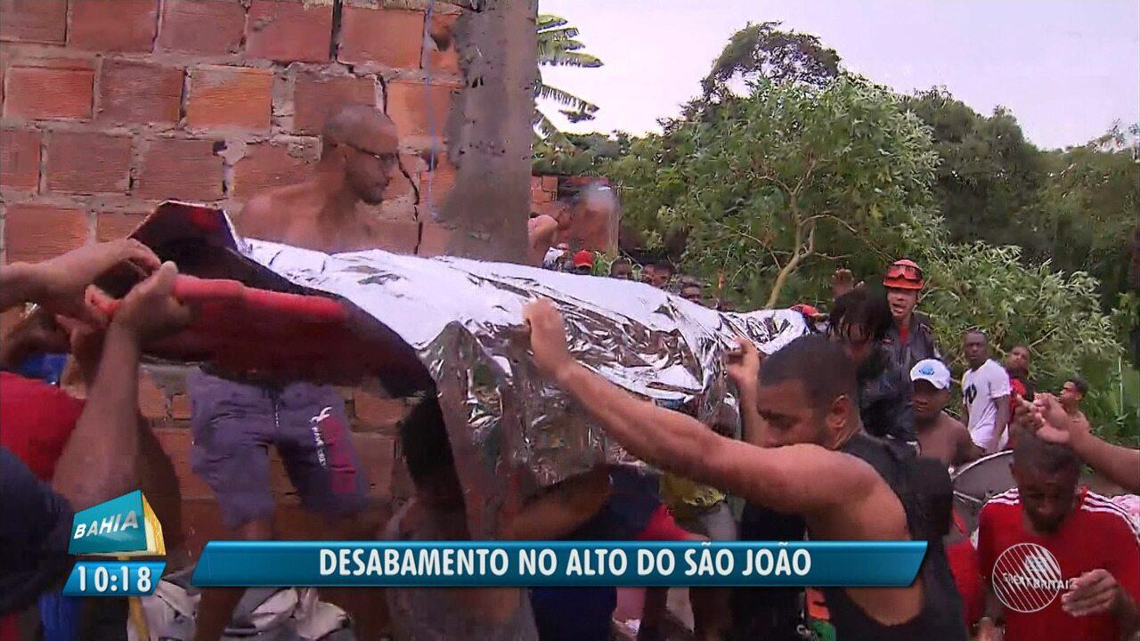 Corpo de garoto de 12 anos é resgatado após tragédia no bairro de Pituaçu