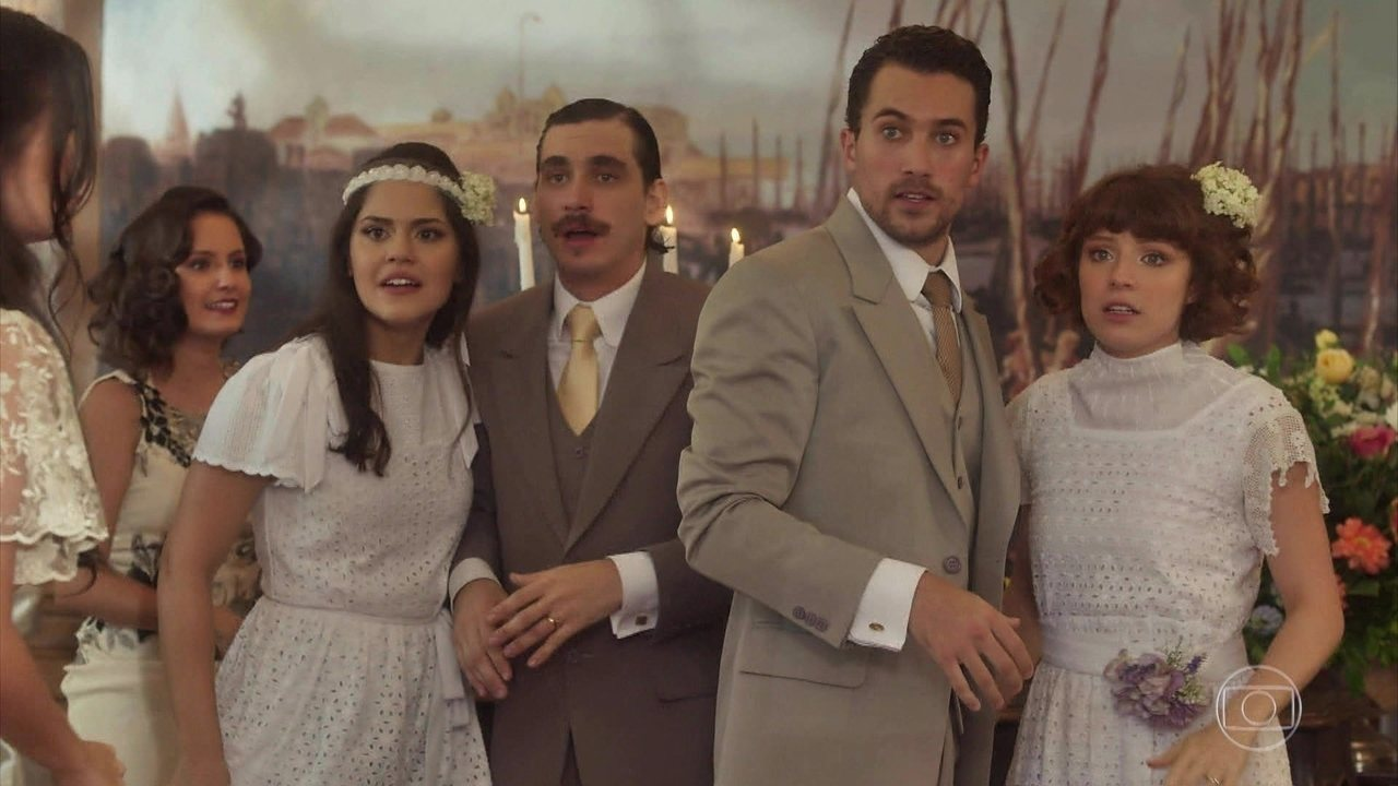 Natália e Helena se casam com Tomaso e Giuseppe respectivamente