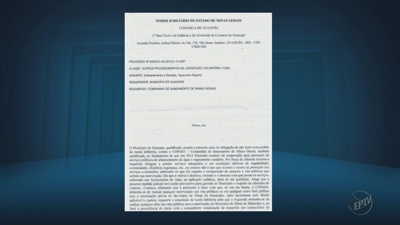 Justiça de Guaxupé (MG) proíbe Copasa de fazer obras sem autorização da Prefeitura