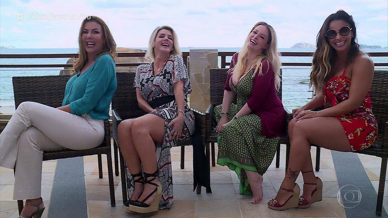 'Vídeo Show' reúne as 'Garotas do Fantástico'