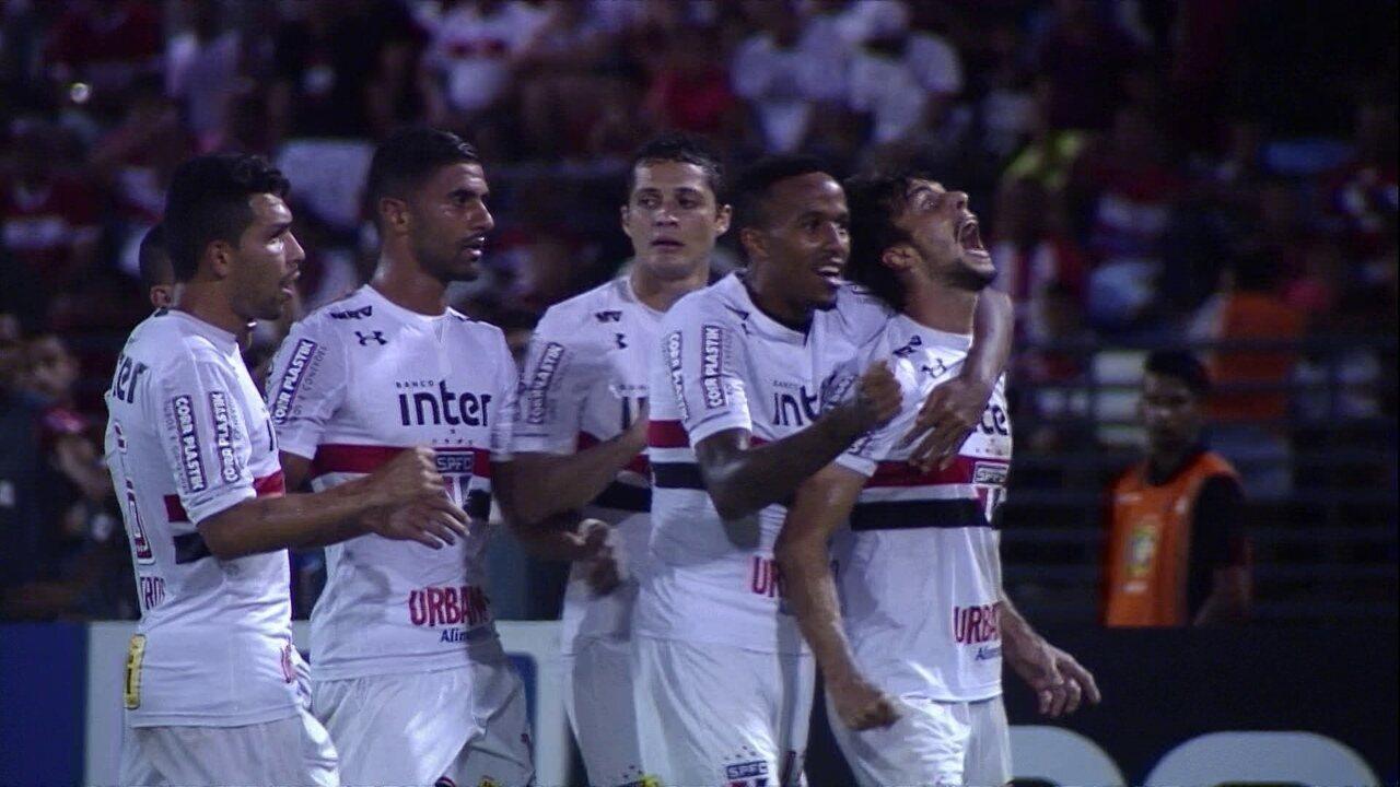 Melhores momentos: CRB 0 x 3 São Paulo pela 3ª fase da Copa do Brasil