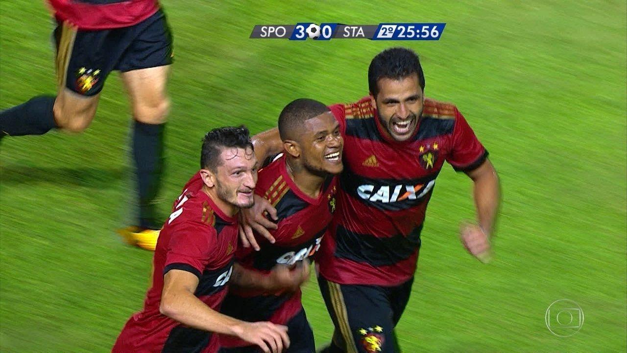 Melhores momentos de Sport 3 x 0 Santa Cruz