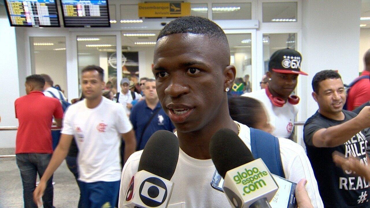 Atacante Vinicius Jr espera um grande jogo do Flamengo contra a Portuguesa no Kleber Andrade, pela Taça Rio