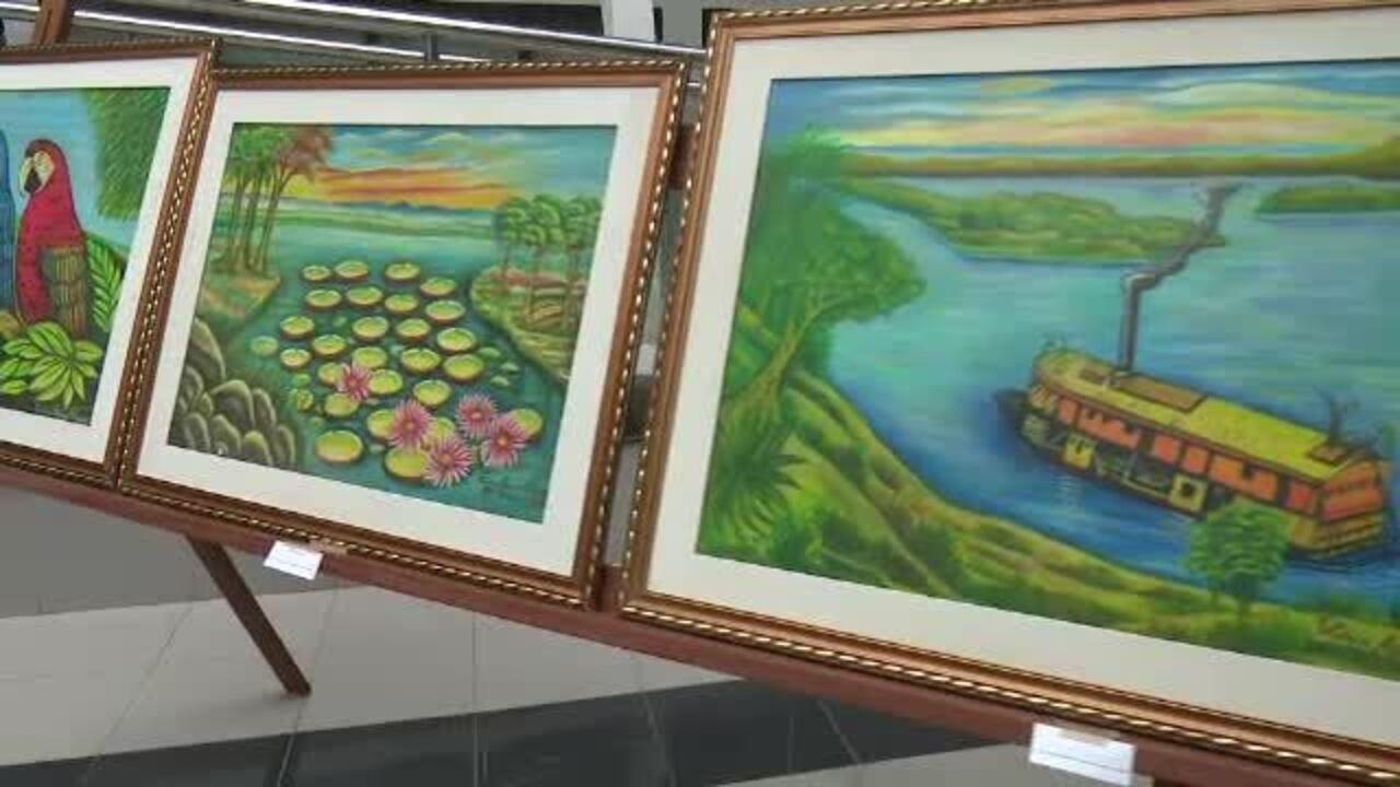Aos 99 anos, artista plástica expõe obras em salão da Justiça Federal no Acre