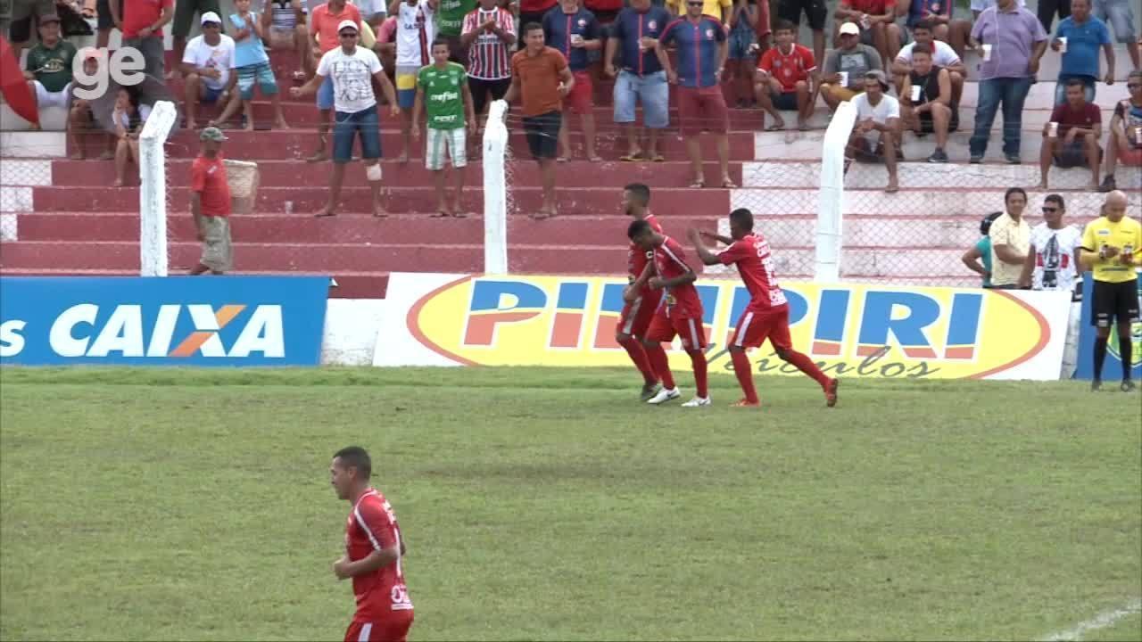 Os gols de 4 de Julho 1 x 1 Piauí pela nona rodada do Campeonato Piauiense