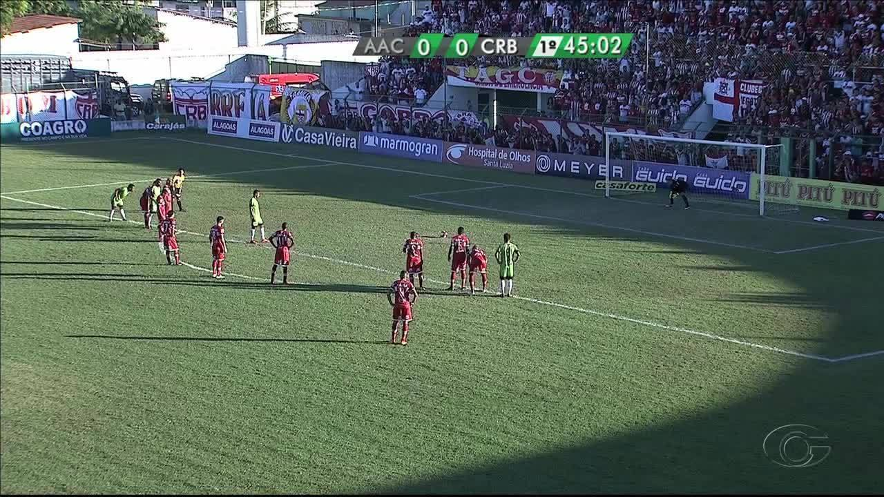 Confira os gols de Coruripe 1x2 CRB