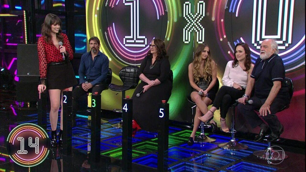 Agatha Moreira, Marcelo Faria e Rosane Gofman repetem campainha número um e Alexandre Pires vai ao palco